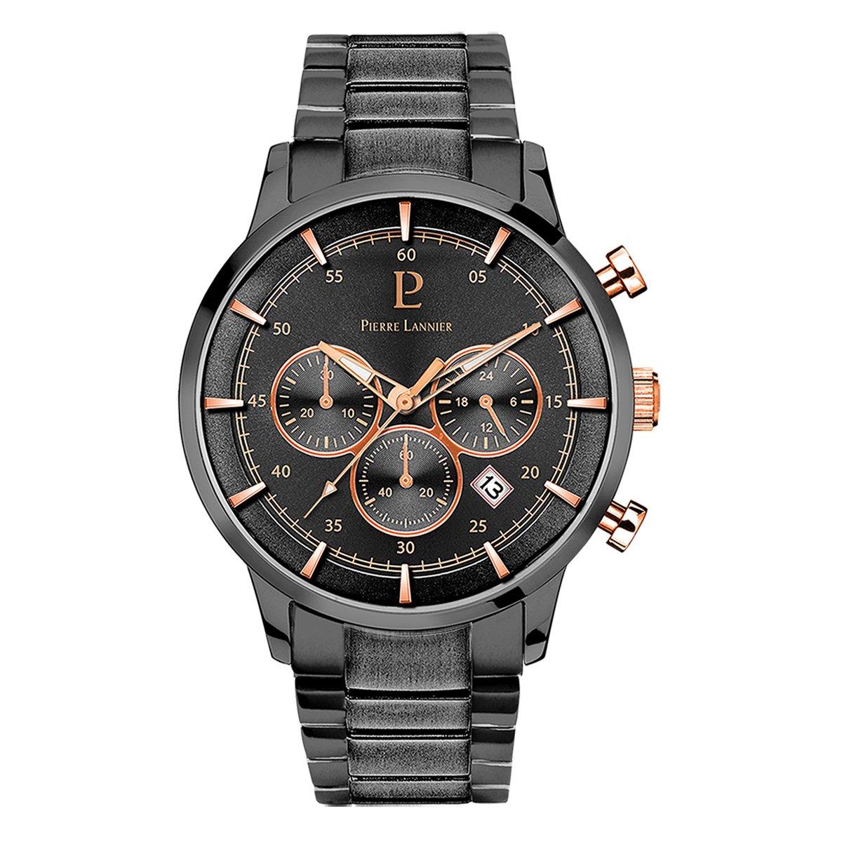 Men's Watch Pierre Lannier - 244F489 - ELEGANCE CHRONO - Chronograph - Date - Deep Grey by Pierre Lannier