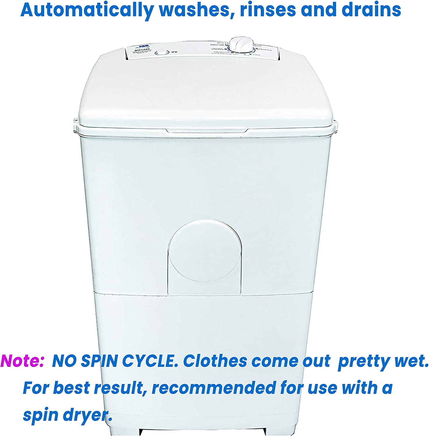 KUPPET Portable Spin Dryer 1500 RPM 110V//8.8lbs(Can only be dried not washed)