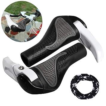 Puños Bicicleta Ergonomicos con Máscara, Wafly 2PCS Puños para ...