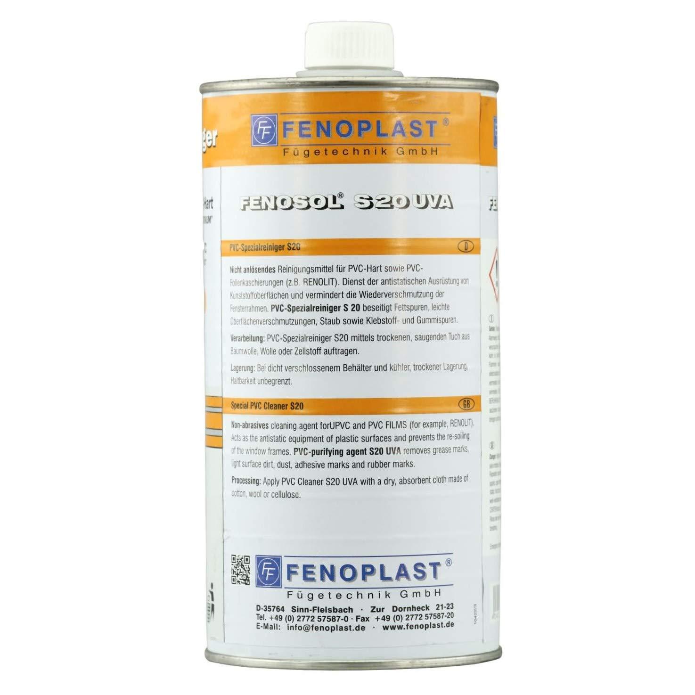 1 Liter FENOSOL S 20 UVA PVC Reiniger/Kunststoffreiniger/Fenster ...