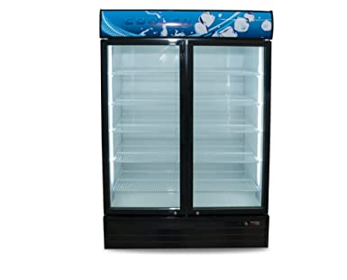 Amazoncom Grab N Go Refrigerator Double Glass Door Black