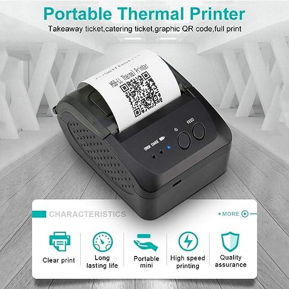 Amazon.com: Cherry-Lee - Impresora térmica inalámbrica con ...