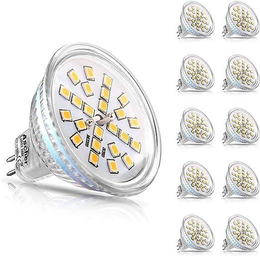 4W Ersatz für 50W Halogenlampe... Ascher 5er Pack MR16 GU5.3 LED Lampen 400LM