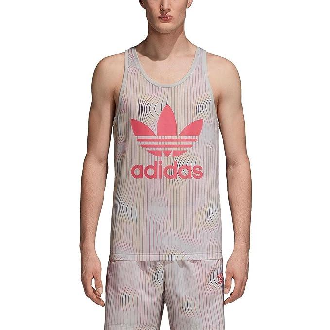 adidas Camiseta Tirantes Warped Stripes Hombre M: Amazon.es: Ropa y accesorios