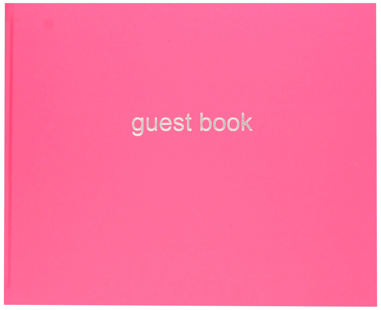 Letts 090015P Dazzle Quarto Landscape Guest Book - Pink by Letts (Image #1)