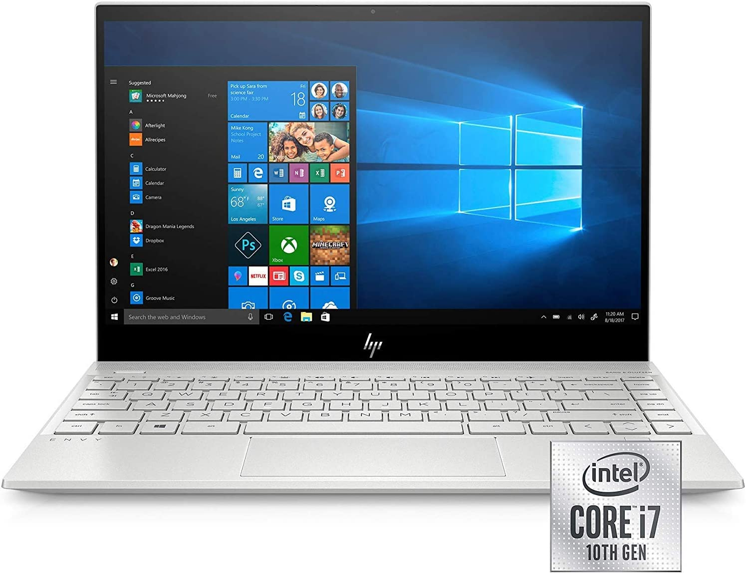 """HP Envy 13 13.3"""" Touchscreen Laptop Intel Core i7 8GB RAM 512GB SSD - 10th Gen i7-1065G7 Quad-core - Intel Iris Plus Graphics - in-Plane Switching (IPS) Technology - BrightView Display Technology"""