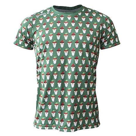 Luanvi Edición Limitada Camiseta técnica papá Noel, Hombre, Rojo, 2XL (60-