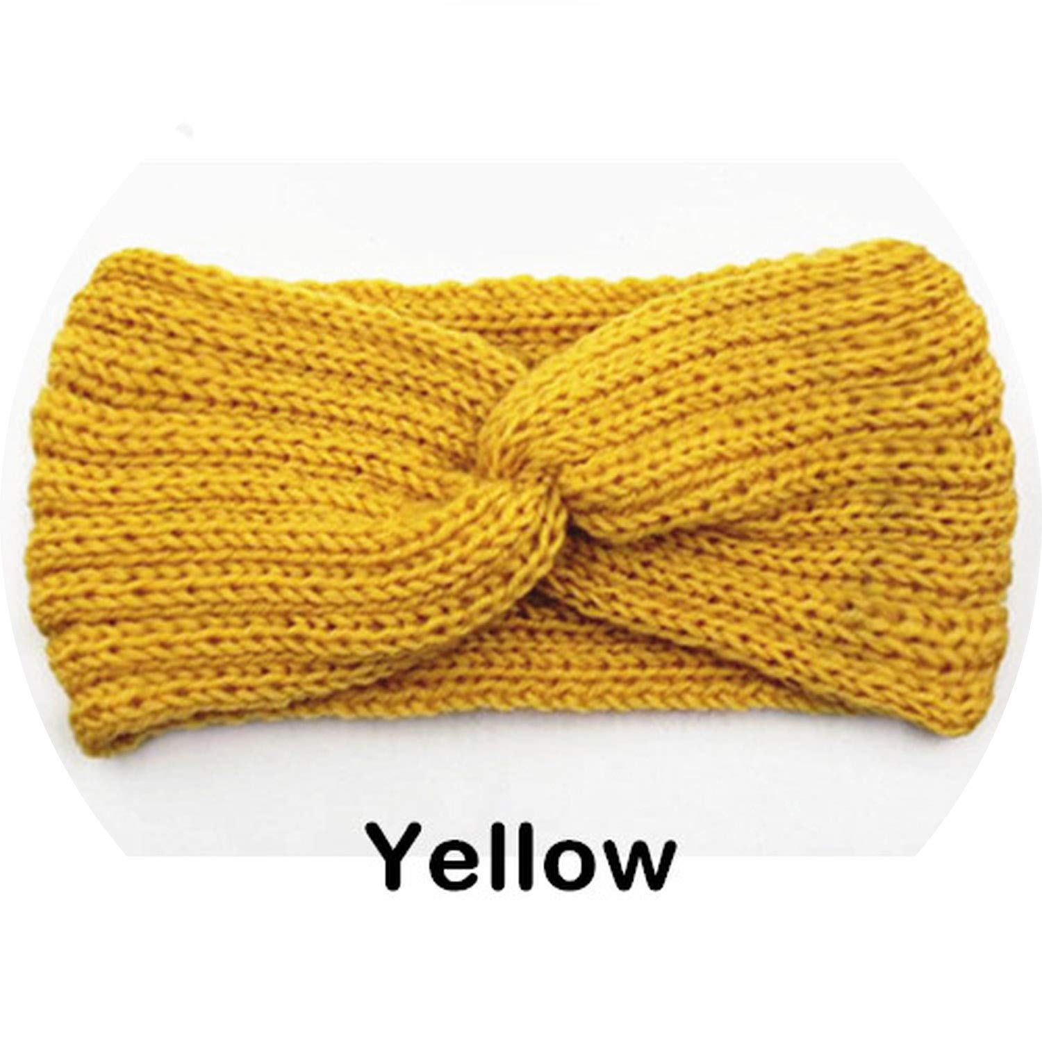 TENDYCOCO Warm Knitted Twist Hairband Simple Winter Ear Muffs Autumn Headband Hair Accessories for Girls Women Ladies