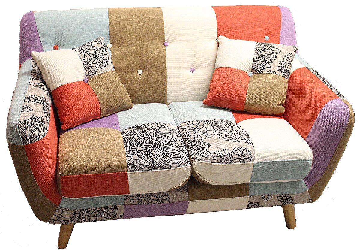 Sofá de 2 plazas en estilo patchwork Bizzotto diseño Vintage ...