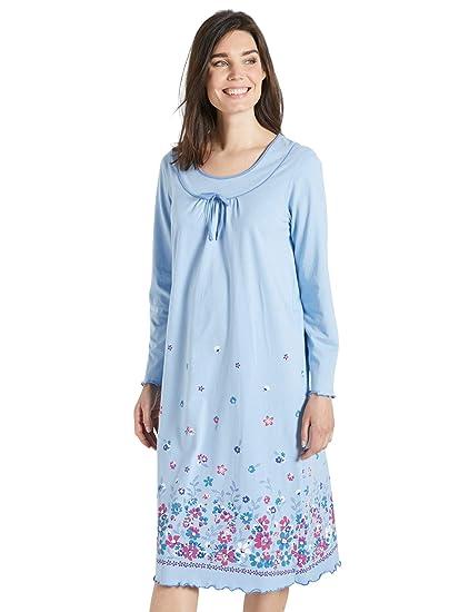 1144264e84cd5 Lingerelle - Chemise de nuit longue, manches longues - femme: Amazon.fr:  Vêtements et accessoires