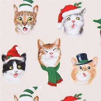 Elizabeths Studio Tela de EE. UU. con Gatos, Tema navideño, diseño: