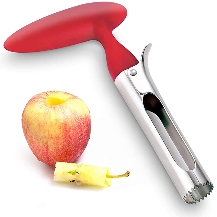 Professional Apple Corer Stainless Steel - Easy to Use Apple Corer Remover, Works on Pears, Bell Peppers, Fuji, Honeycrisp, Gala and Pink Lady Apples, Removes Apple Core Easily by Zulay Kitchen