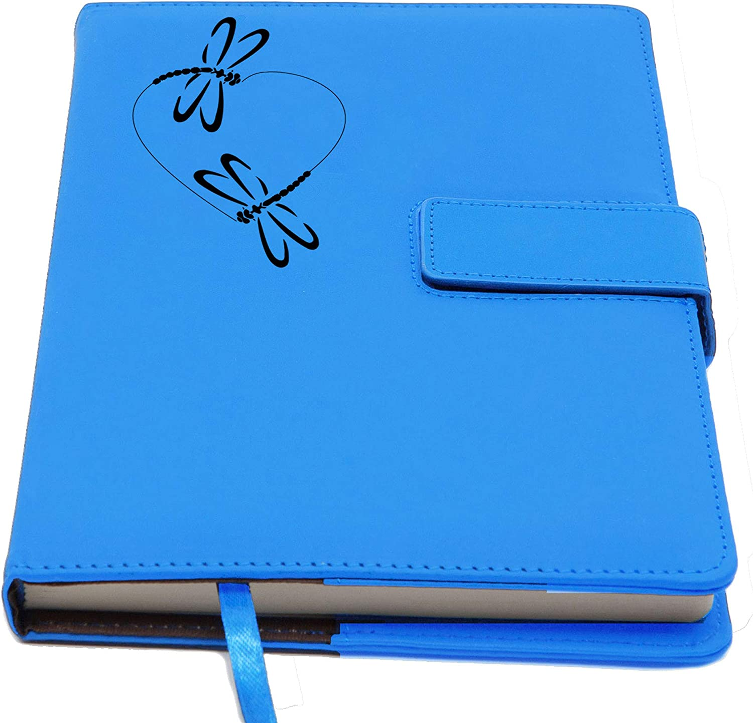 The Dragonfly Heart Refillable Writing Journal | Magnetic Faux Leather Journal, 5 x 8 Inch, 200 Lined Pages Travel Personal Diary, Quality Notebooks Journals for Men and Women from The Amazing Office…
