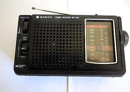 Amazon com: Vintage SANYO 3 Band Receiver RP 7161 Radio: Camera & Photo