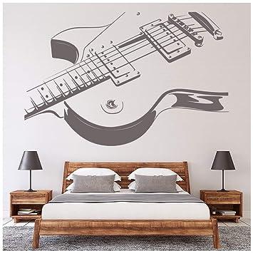 azutura Guitarra eléctrica Vinilos La música rock Pegatina Decorativos Pared Kids Bedroom School Decoración disponible en