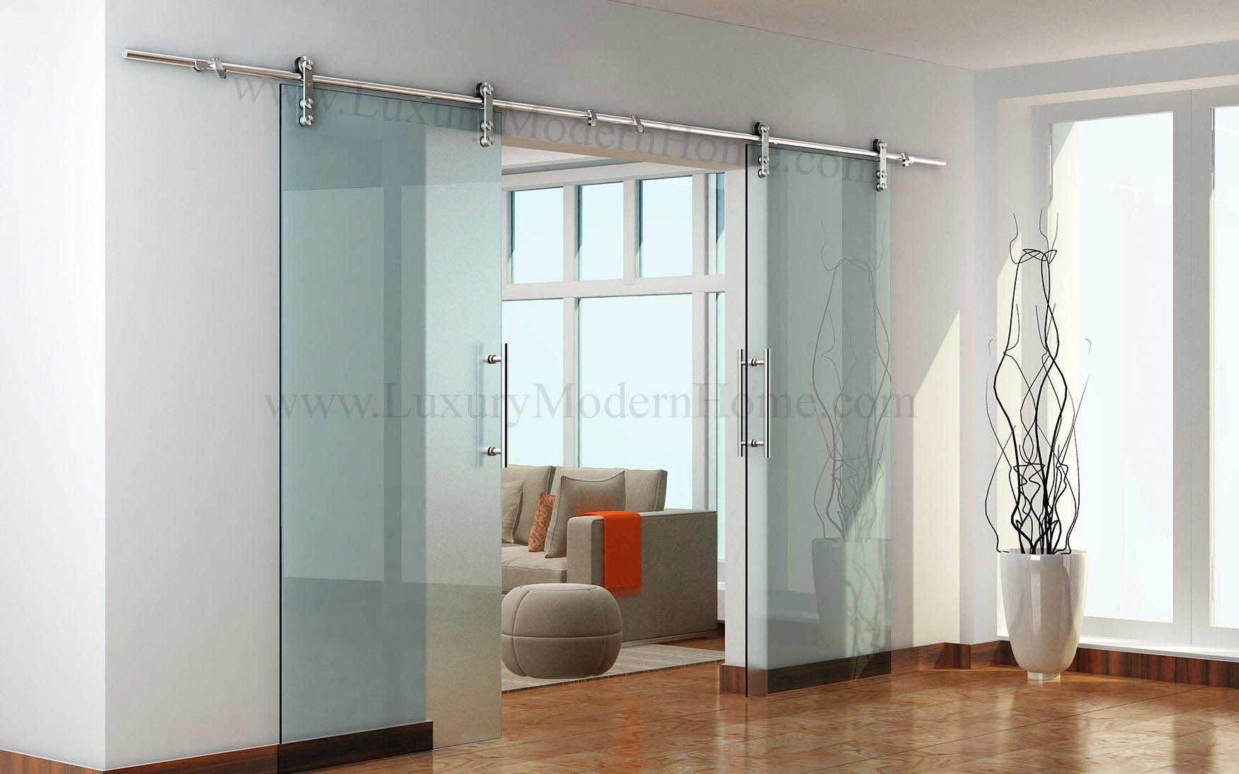 BERLIN - 2.5M - DOUBLE Sliding Glass Door Hardware (100'' opening - Max 2 - 50'' doors) by LuxuryModernHome.com (Image #1)