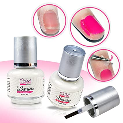 Esmalte 2en1 Barrera látex vinilo Nail Art y Base pelable Peel Off –
