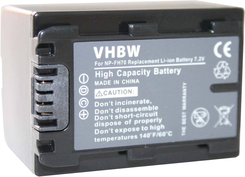 E vhbw 2X Bater/ías Li-Ion 950mAh 7.2V DCR-SR37 para c/ámara videoc/ámara Sony DCR Serie DCR-SR36 NP-FH50 DCR-SR37E y NP-FH40 NP-FH70.