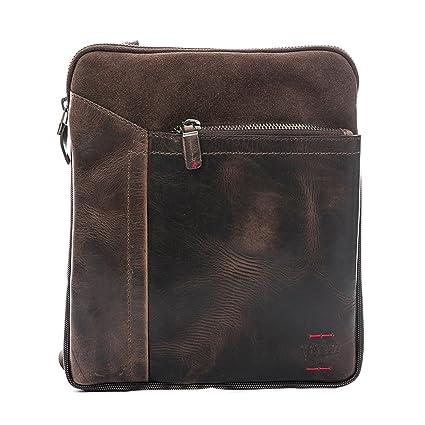 Amazon.com | VÉLEZ 21476 Men Genuine Leather Crossbody Bag | Bandolera De Cuero Coffee | Backpacks