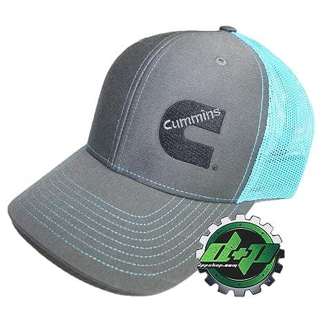 61526e9a7ec28 Amazon.com   Diesel Power Plus Dodge Cummins Richardson Ball Cap hat Summer mesh  snap Back Teal Blue and Gray   Sports   Outdoors