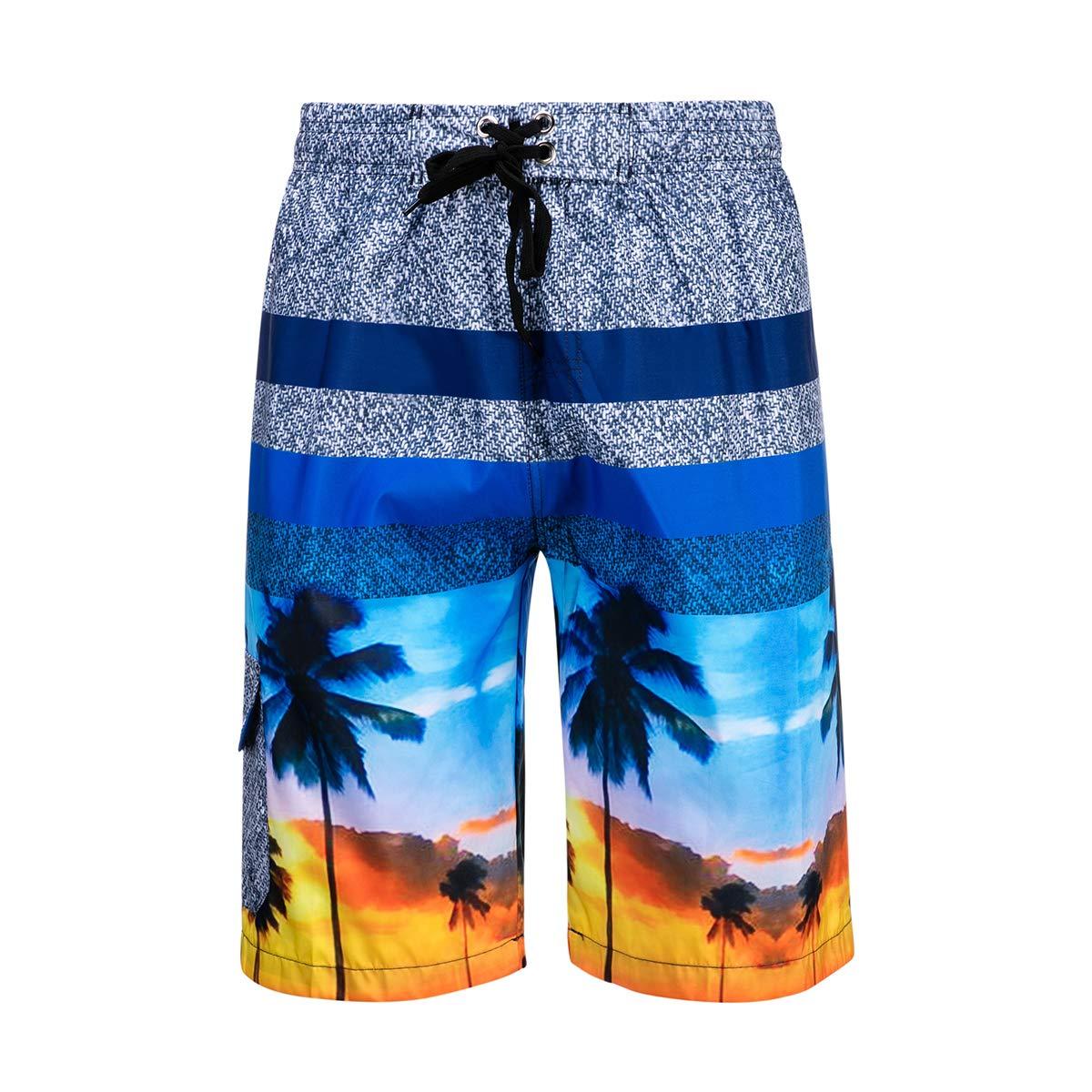 DRSLPAR Mens Quick Dry Swim Trunks Drawstring Beach Shorts Swim Shorts with Mesh Lining M