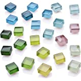 Refrigerator Magnets Cute Fridge Magnets Kitchen Colorful Magnets Decorative Office Magnets Fun Glass Magnets Whiteboard Dry Erase Board Magnets (12 Color Glasses)