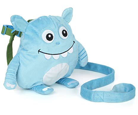 Nuby 2 in 1 Harness Backpack, Monster, Blue, Child Leash, Baby Walking