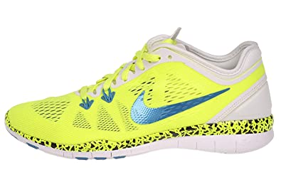cheaper ea5dd 9d0f7 Nike Women s WMNS Free 5.0 TR FIT 2 WC, VOLT WHITE-LIGHT BLUE