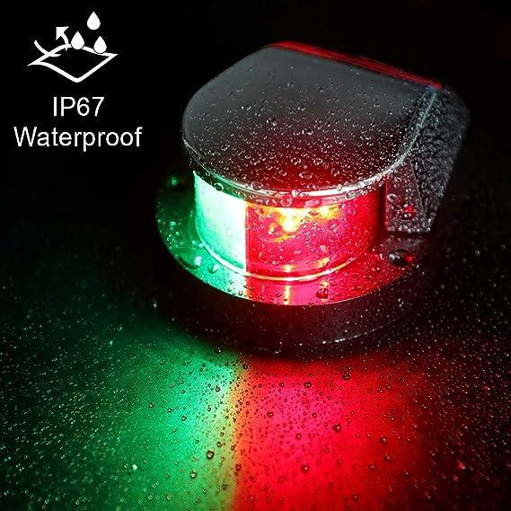 pontones embarcaciones babor Yates 12-24 V CC estribor Nuevas Luces de navegaci/ón Marinas para Proa Skeeter Not application 2 Paquetes de Luces de navegaci/ón LED para Montaje en Cubierta