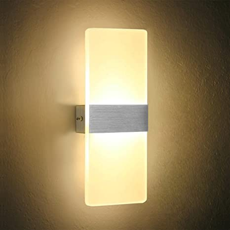 Dslg Modern Acrylic 6w Led Wall Sconces Light Lamp Decorative Light Fixture For Bedroom Living Room Balcony Corridor 27x11x4cmwarm White 3000k