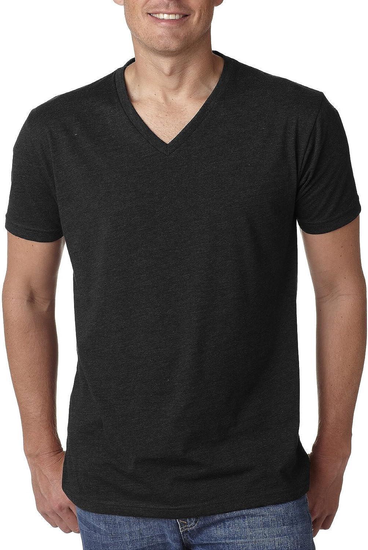 Black Next Level Mens 60/% Cotton 40/% Polyester CVC V-Neck Tee XL