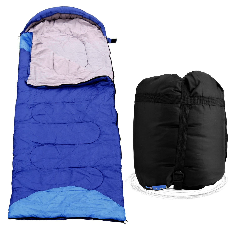 Traveling Great for 3 Seasons Camping Blue Waterproof Lightweight Portable Mummy Sleeping Bag Compression Sack /& Bonus Pillow Venoro Envelope Sleeping Bag and Outdoor Activities and Outdoor Activities Hiking