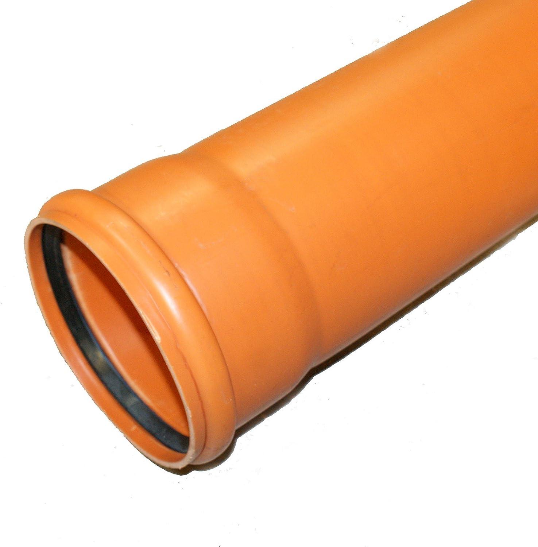 Tubo de desag/üe DN110 x 1000 mm, 1 m, 100 cm Ostendorf 220010 KG color naranja