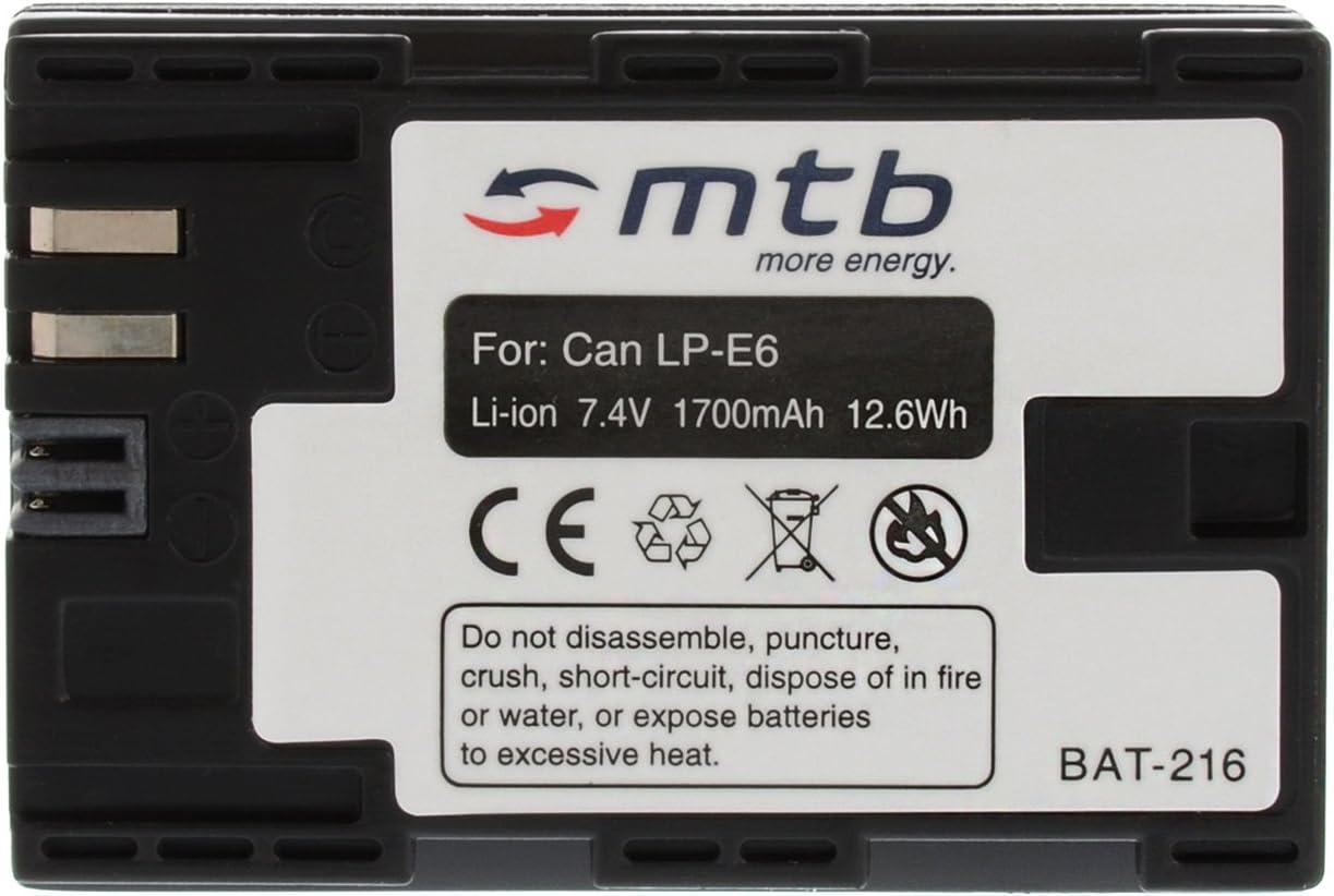 60Da. 2X Bater/ía LP-E6 para Canon EOS 5D Mark II 5D Mark III 60D Ver descripci/ón 6D 7D