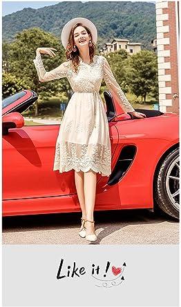 Sukienka koktajlowa damska długość do kolan elegancka moda vintage odzież świąteczna ubranie długi rękaw sukienka dekolt w serek haftowana koronka tiulowa suknia wieczorowa sukienka na