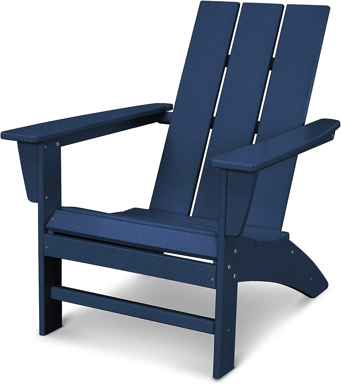 POLYWOOD AD420NV Modern Adirondack Chair, Navy