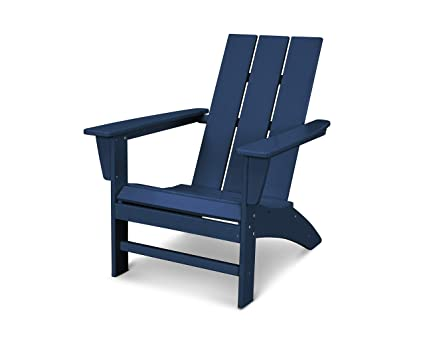 Miraculous Polywood Ad420Nv Modern Adirondack Chair Navy Download Free Architecture Designs Embacsunscenecom