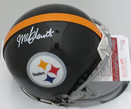 ae7abc314 Image Unavailable. Image not available for. Color  Steelers Mel Blount  Autographed Signed Mini Helmet ...
