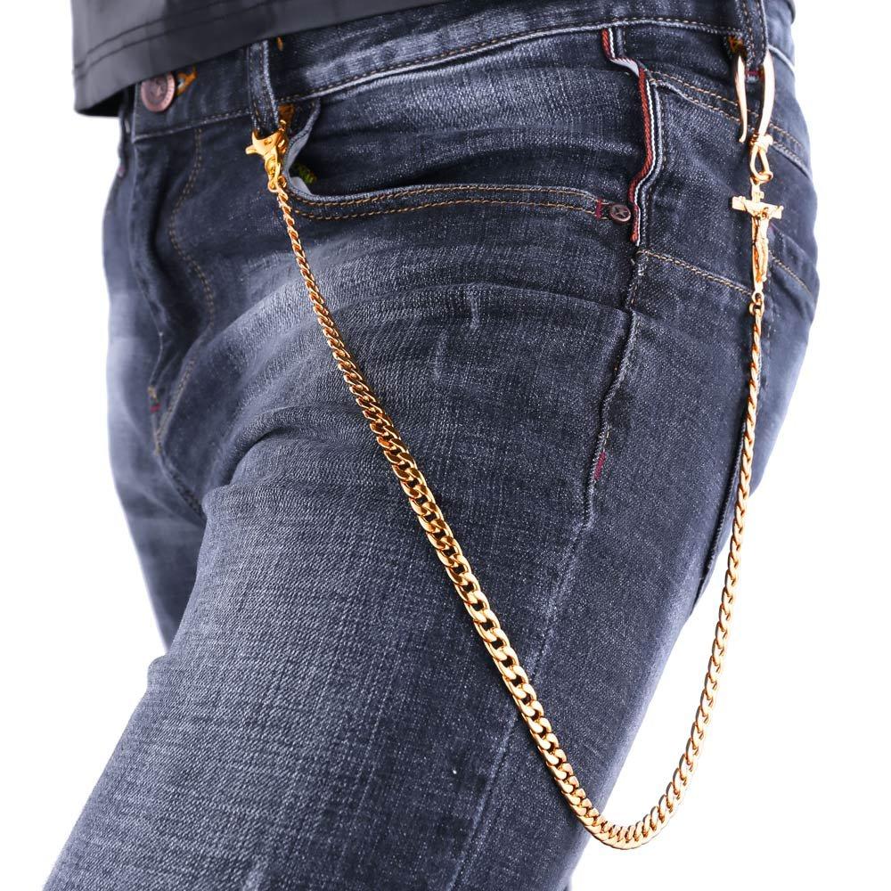 Stainless Steel Wallet Chain Punk Biker Jean Purse Key Chain Resizable U7 Jewelry GBC2320K