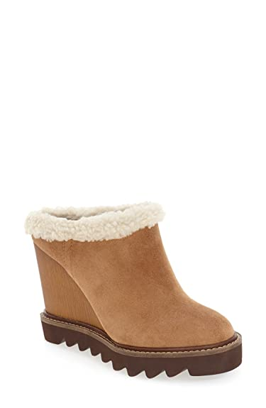 Amazoncom Bcbgeneration Womens Nerissa Suede Wedge Mules Shoes