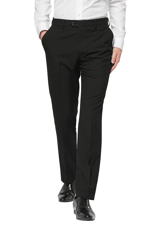 next Hombre Traje: Pantalones Corte Pitillo Negro EU 96.5 XLong ...