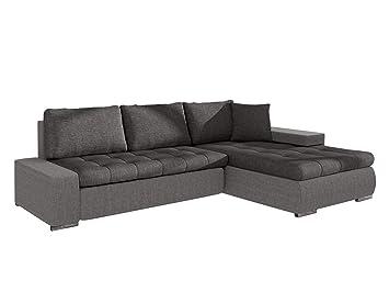 48fc634fdd3b33 Mirjan24 Elegante Sofa Orkan Mini mit Schlaffunktion und Bettfunktion,  Eckcouch Ecksofa mit Bettkasten, Couch