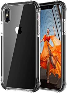 GPFILE Clear for iPhone Xs Case, iPhone X/XS Protective Case Cover [4 Reinforced Corners] Shockproof Case with TPU Soft Bumper for iPhone X/XS 5.8