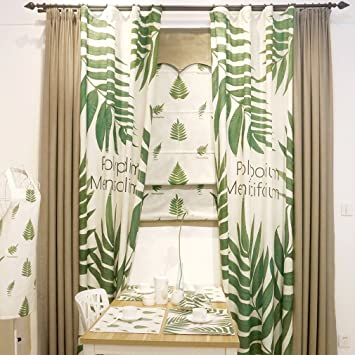 Merveilleux Country Lin Chambre à Coucher Fenêtre Rideaux Pour Le Salon Vert De Cuisine  Imprimé Panneaux De Rideaux Occultant Café Rustique Salle à Manger ...