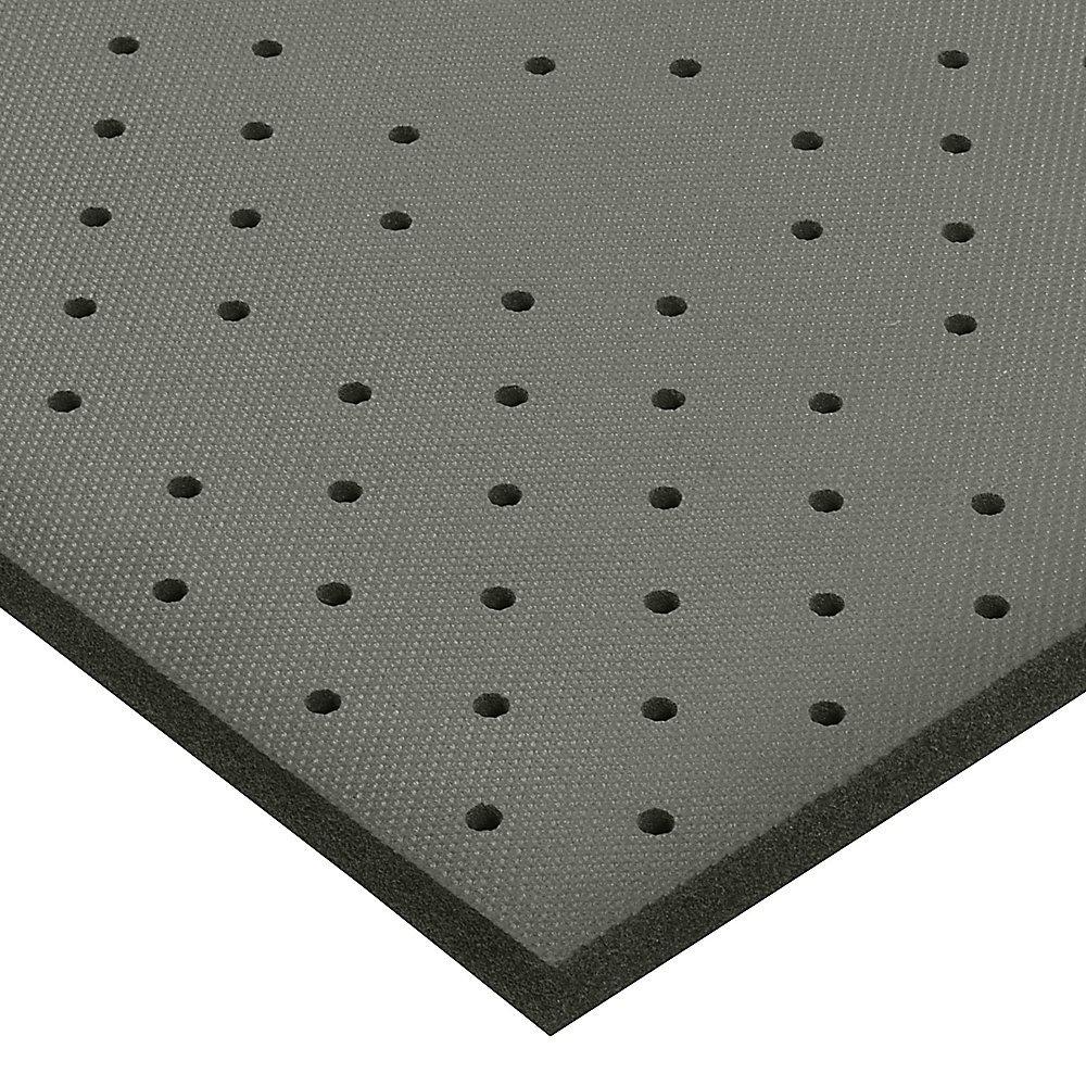 Notrax Superfoam Anti-Fatigue Safety Mat - Perforated Mat - 3X3' - Black - 3x3'