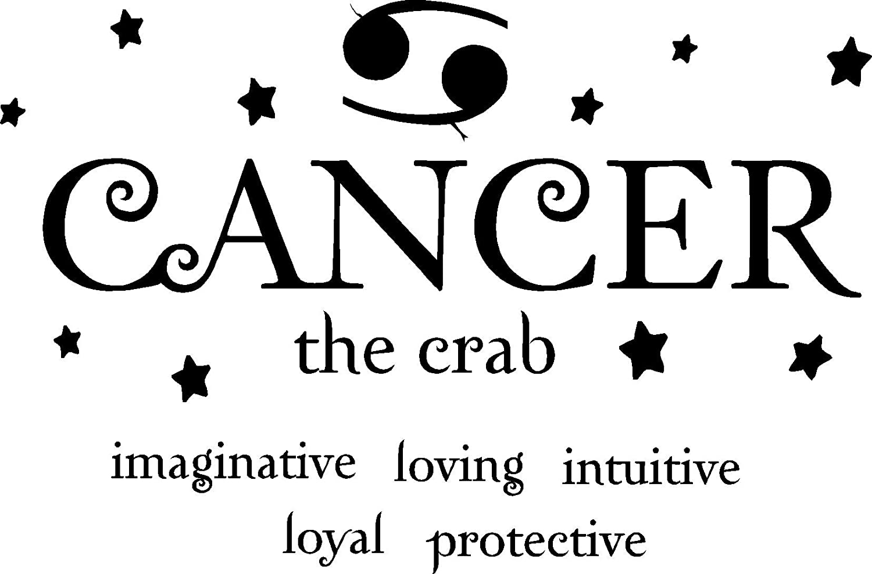amazon com cancer the crab horoscope zodiac vinyl wall art decal