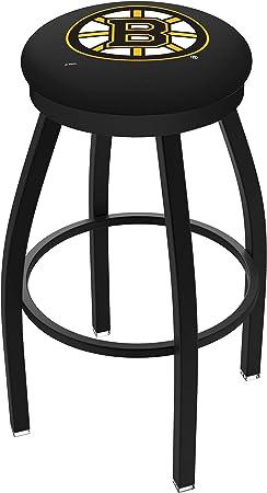 Amazon Com 30 L8b2b Black Wrinkle Boston Bruins Swivel Bar Stool With Accent Ring By Holland Bar Stool Company Furniture Decor