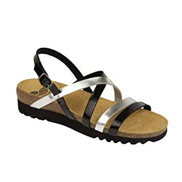 3755776b37f Scholl - Alma Sandal Sandals Black Silver  Amazon.co.uk  Health   Personal  Care
