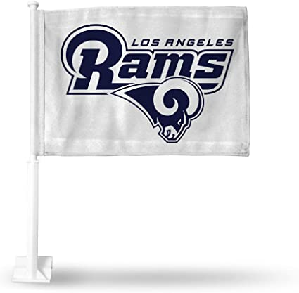 with White Pole Rico Industries NCAA Unisex-Adult Car Flag