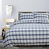 Merryfeel Cotton Duvet Cover Set,100% Cotton Yarn Dyed Check Plaid Bedding Set,3 Pieces (1 Duvet Cover with 2…
